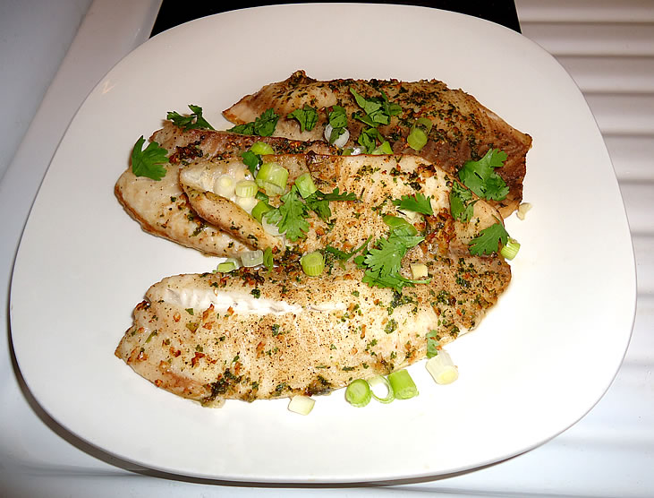 Ginger and Cilantro Baked Tilapia | For the Love of Food