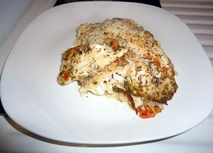 talipia and orzo plate