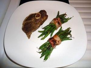 lamb chops and string beans